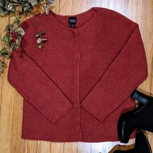 {Eileen Fisher} EUC Merino Wool Cardigan